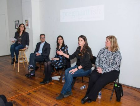 pregnantish san francisco art conversation
